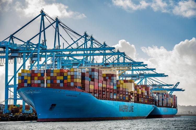Eleonora Maersk voyage Los Angeles Port