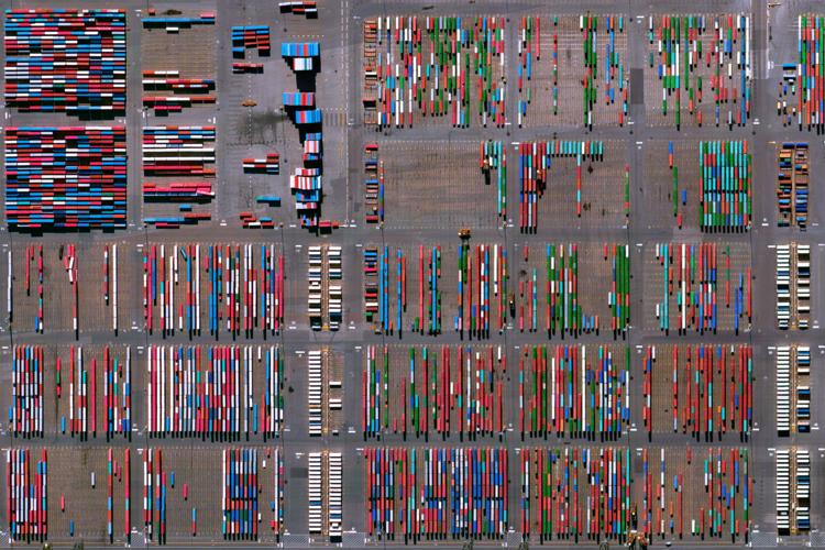 Sky View of Port Newark Terminal